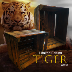 Storage Crate Dark Wood Tiger Crate