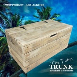 Wooden Storage Chest: The Tobin Trunk is launched.
