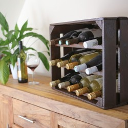 Apple Crate Wine Rack (15 Bottle) Varnished
