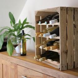 Apple Crate Wine Rack - Portrait (16 Bottle) Natural