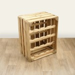 Apple Crate Wine Rack - Portrait (16 Bottle) Natural