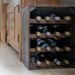 Apple Crate Wine Rack - Portrait (16 Bottle) Varnished