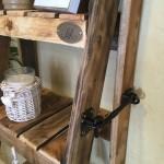 Rustic Ladder Shelves