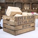 Personalised Bride & Groom Stencil Crate + Rope Handle