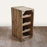 Apple Crate Wine Rack - 8 Bottle